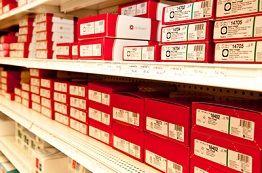 Shelf with Ostomy Supplies